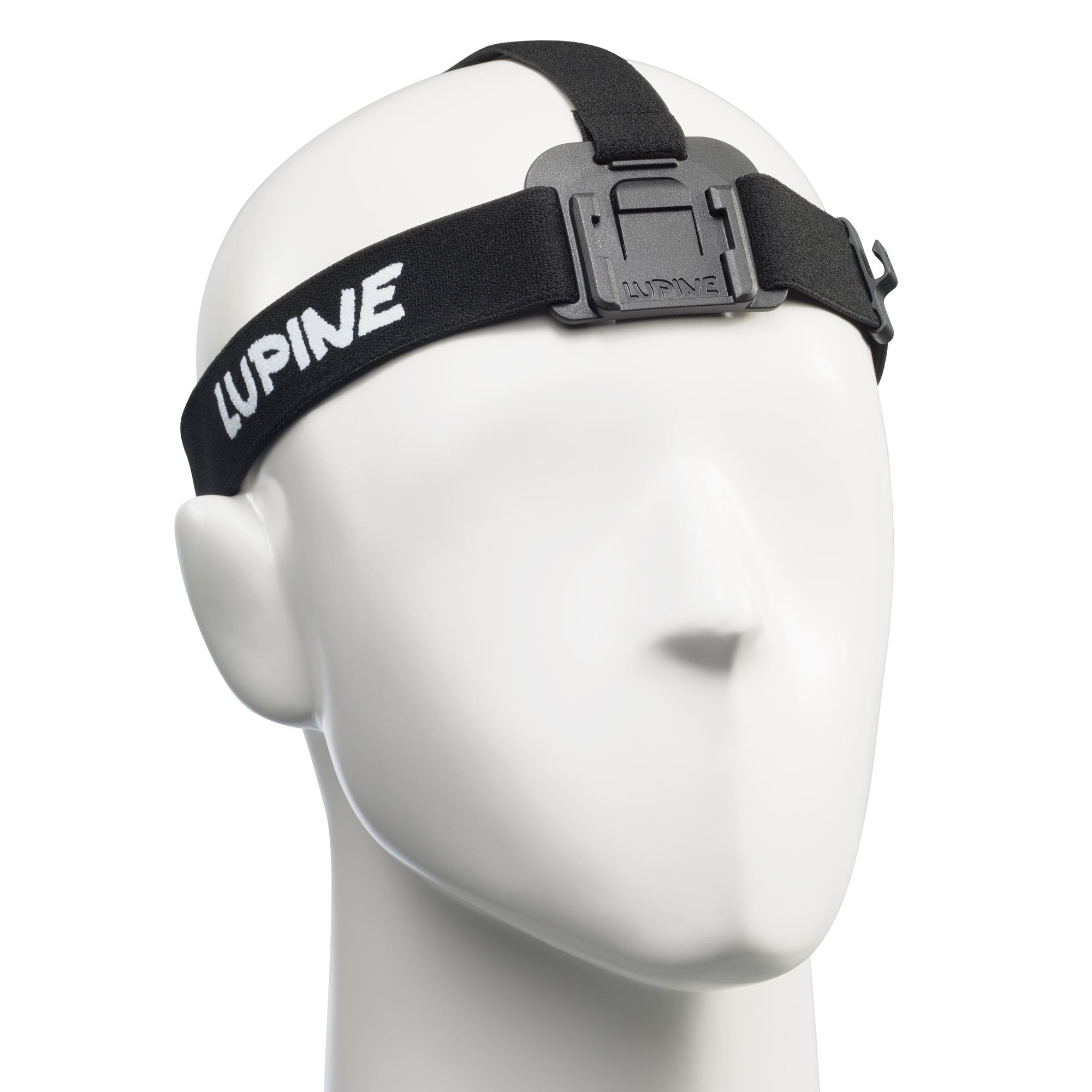 Lupine Stirnband Piko/Piko R schwarz, FastClick Halterung